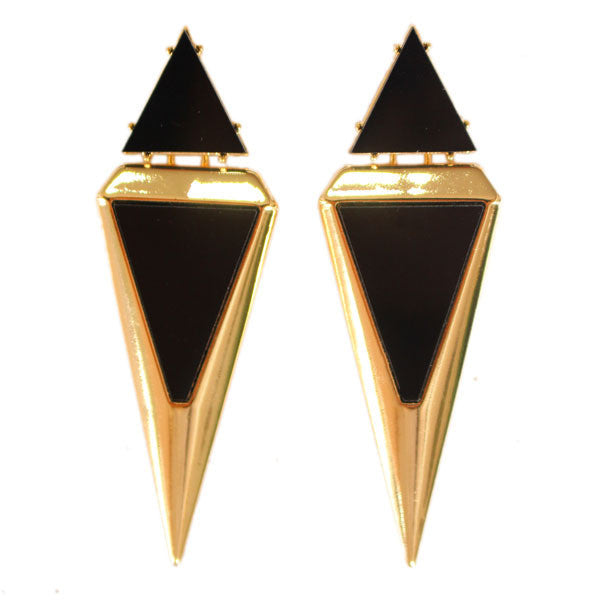 triangle summer dress steampunk feminino black brand fashion big dangle earrings for women bijoux innovative items - Hespirides Gifts