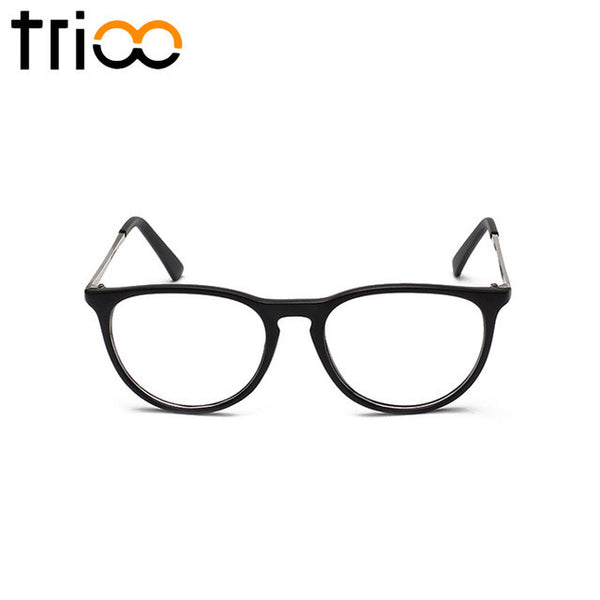 TRIOO Clear Lens Glasses Frame Women Fashion Black Optical Eyewear Female Hight Quality Vintage Glasseswear Accessories""