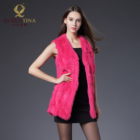 queentina QS-61 Fur Coat With Free Winter Scarf