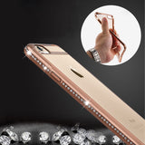 Luxury Rhinestone Frame Case For iphone 6 6s 6 plus 5 5S SE Ultra Thin Clear Soft TPU Crystal Diamond Cover For iphone 6 6S Plus - Hespirides Gifts - 1