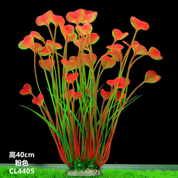 New Plastic Aquarium Decoration Multicolor Artificial Plants Fish Tank Grass Flower Ornament aquarium accessories Landscape 40cm