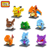 LOZ Pokemon Figures Model Toys Pikachu Charmander Squirtle Mewtwochild Snorlax Dragonite Lapras Diamond Building Blocks - Hespirides Gifts - 1