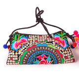 National Embroidered Bags Embroidery Unique Shoulder Messenger Bag Vintage Hmong Ethnic Thai Indian Boho Clutch Handbag 25 style - Hespirides Gifts - 1