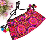 National Embroidered Bags Embroidery Unique Shoulder Messenger Bag Vintage Hmong Ethnic Thai Indian Boho Clutch Handbag 25 style - Hespirides Gifts - 13