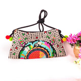 National Embroidered Bags Embroidery Unique Shoulder Messenger Bag Vintage Hmong Ethnic Thai Indian Boho Clutch Handbag 25 style - Hespirides Gifts - 20