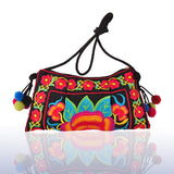 National Embroidered Bags Embroidery Unique Shoulder Messenger Bag Vintage Hmong Ethnic Thai Indian Boho Clutch Handbag 25 style - Hespirides Gifts - 22