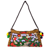 National Embroidered Bags Embroidery Unique Shoulder Messenger Bag Vintage Hmong Ethnic Thai Indian Boho Clutch Handbag 25 style - Hespirides Gifts - 7