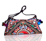 National Embroidered Bags Embroidery Unique Shoulder Messenger Bag Vintage Hmong Ethnic Thai Indian Boho Clutch Handbag 25 style - Hespirides Gifts - 19