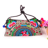National Embroidered Bags Embroidery Unique Shoulder Messenger Bag Vintage Hmong Ethnic Thai Indian Boho Clutch Handbag 25 style - Hespirides Gifts - 25