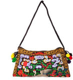 National Embroidered Bags Embroidery Unique Shoulder Messenger Bag Vintage Hmong Ethnic Thai Indian Boho Clutch Handbag 25 style - Hespirides Gifts - 16