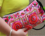 National Embroidered Bags Embroidery Unique Shoulder Messenger Bag Vintage Hmong Ethnic Thai Indian Boho Clutch Handbag 25 style - Hespirides Gifts - 23
