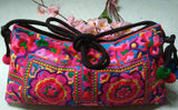 National Embroidered Bags Embroidery Unique Shoulder Messenger Bag Vintage Hmong Ethnic Thai Indian Boho Clutch Handbag 25 style - Hespirides Gifts - 5
