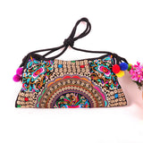 National Embroidered Bags Embroidery Unique Shoulder Messenger Bag Vintage Hmong Ethnic Thai Indian Boho Clutch Handbag 25 style - Hespirides Gifts - 9