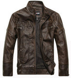 Motorcycle Leather Jackets Men Autumn Winter Leather Clothing Men Leather Jackets Male Business casual Coats Brand New clothing - Hespirides Gifts - 4