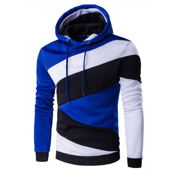 Hooded Men's 2017 Brand Male Long Sleeve Hoodie sudaderas hombre Sweatshirt Men's Slim geometric pattern Men's Hoodie Sportswear