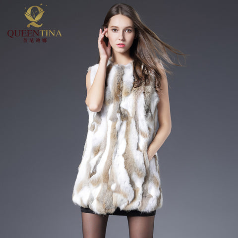 Queentina S-84 Fur Coat With Free Winter Scarf