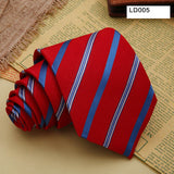 Men Floral Tie Red Color Wedding ties Striped Fashion Men's Neck Tie Colorful New Brand For Bridegroom