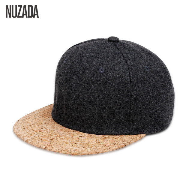 Brands NUZADA 2017 Autumn 65% Wool Cork Fashion Simple Men Women Hat Hats Baseball Cap Hip Hop Snapback Simple Classic Caps