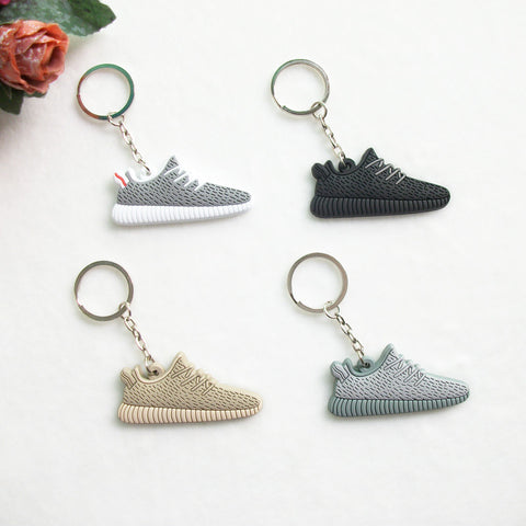 Cute Silicone Yeezy 350 Boost Key Chain Sneaker Keychain Kids Key Rings Key Holder Llaveros Chaveiro Porte Clef - Hespirides Gifts - 1