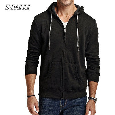 E-BAIHUI brand 2017 new autumn cotton coats men's fashion hoodise and sweatshirts man casual  hoodies men jackrt 5742