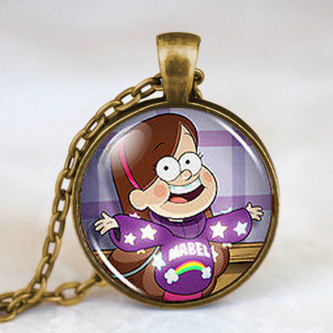 Gravity Falls Mabel BILL CIPHER WHEEL Steampunk Mabel Pines Pendant Necklace 1pcs/lot chain mens new chain harry potter fob - Hespirides Gifts