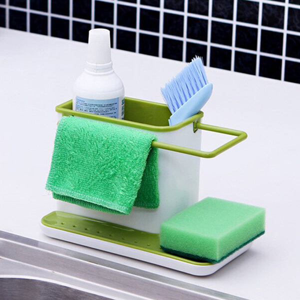 New Arrival Sink Draining Brush Sponge Cleaning Cloth Towel Rack Washing Holder Kitchen Tidy Stand - Hespirides Gifts