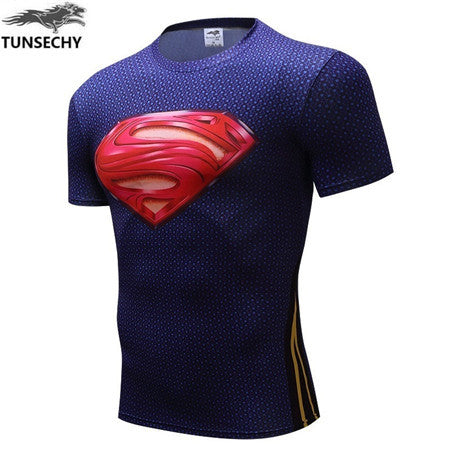Newest Marvel Superhero Clothing Superman T-Shirt Men Women Cartoon 3D T Shirt Funny T Shirts Compression Shirt