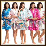 Silk Kimono Robes For Women Satin Bathrobe Long Silk Robes For Bridesmaids Longue Femme Women Dressing Gown Bridesmaid Robe - Hespirides Gifts - 1