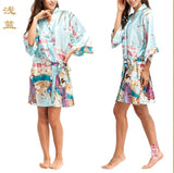 Silk Kimono Robes For Women Satin Bathrobe Long Silk Robes For Bridesmaids Longue Femme Women Dressing Gown Bridesmaid Robe - Hespirides Gifts - 7