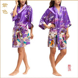 Silk Kimono Robes For Women Satin Bathrobe Long Silk Robes For Bridesmaids Longue Femme Women Dressing Gown Bridesmaid Robe - Hespirides Gifts - 9