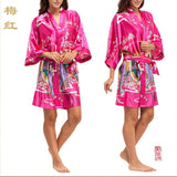 Silk Kimono Robes For Women Satin Bathrobe Long Silk Robes For Bridesmaids Longue Femme Women Dressing Gown Bridesmaid Robe - Hespirides Gifts - 5
