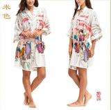 Silk Kimono Robes For Women Satin Bathrobe Long Silk Robes For Bridesmaids Longue Femme Women Dressing Gown Bridesmaid Robe - Hespirides Gifts - 12