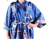 Silk Kimono Robes For Women Satin Bathrobe Long Silk Robes For Bridesmaids Longue Femme Women Dressing Gown Bridesmaid Robe - Hespirides Gifts - 13