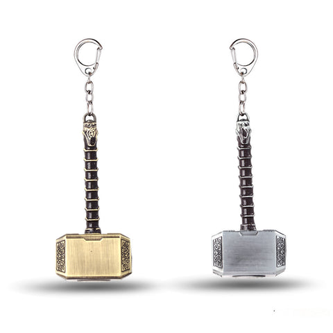 Marvel Avengers Thor's Hammer Keychain Mjolnir Model Zinc Alloy Keyring Toy Thor Key Chain Ring Men Jewelry Fans Accessories - Hespirides Gifts - 1