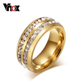fashion austrian crystal rings for women 18k gold plated stainless steel wedding cocktail accessories - Hespirides Gifts - 1