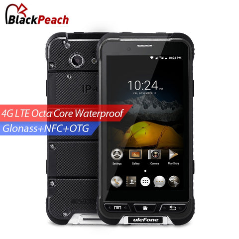 Original Ulefone ARMOR Waterproof Mobile Phone 4.7 inch HD MTK6753 Octa Core Android 6.0 3GB RAM 32GB ROM 13MP Camera OTA 4G LTE