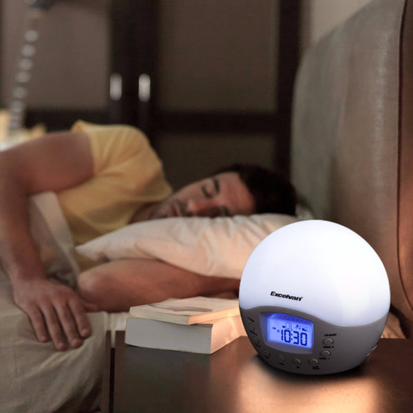 Excelvan Smart Health Wake-Up Light with Sunrise Simulation Alarm Clock with FM Radio Smart Fitness Wake-Up Light - Hespirides Gifts