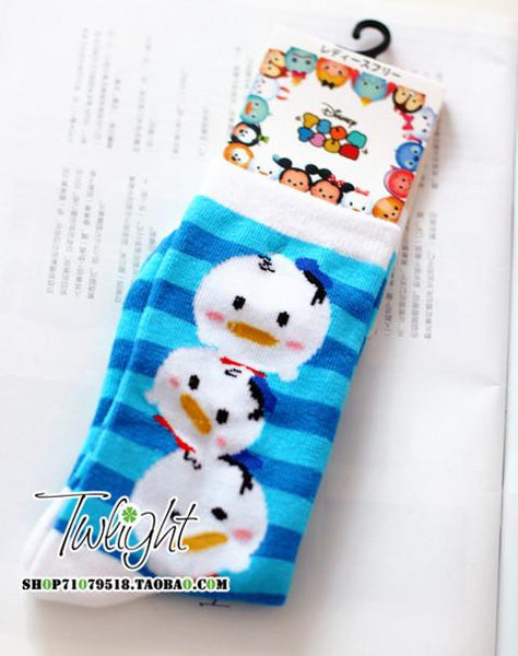 Mickey & Minnie Donald Duck, Daisy, chipmunk, Goofy Dongkuan knitted cotton socks in tube socks - Hespirides Gifts - 2