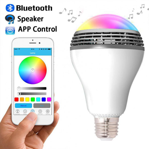 New E27 MiP PLAYBULB X Bluetooth 4.0 speakers Wireless Smart LED Audio Speaker Light Bulb Lamp For iPhone Android 110V - 220V - Hespirides Gifts