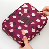 Neceser Rushed Floral Nylon Zipper New Women Makeup bag Cosmetic bag Case Make Up Organizer Toiletry Storage Travel Wash pouch - Hespirides Gifts - 4