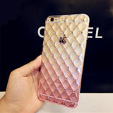 Luxury Bling Diamond Frame Transparent TPU Phone Case For Iphone 6 6S 4.7 inth Soft Silicone Protective Cover Cases - Hespirides Gifts - 1