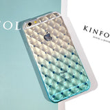 Luxury Bling Diamond Frame Transparent TPU Phone Case For Iphone 6 6S 4.7 inth Soft Silicone Protective Cover Cases - Hespirides Gifts - 3