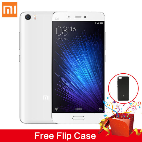 Xiaomi Mi5 Mi 5 Mobile Phone With Free Cartoon Cable Protector