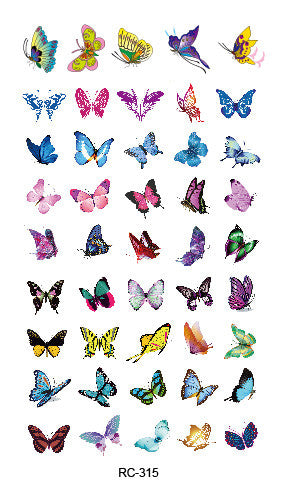 RC2315 2015 Waterproof Temporary Tattoo Stickers Glitter Colorful Butterfly Fake Tattoo Water Transfer Tattoo Taty Body Art