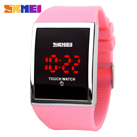 buy fashion men women electronic led touch candy jelly watch silicone sports digital watch new. Black Bedroom Furniture Sets. Home Design Ideas