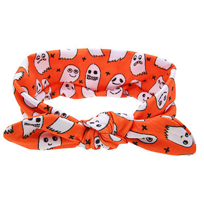 Halloween Devil Style Devil Headband DIY Kids Cotton Wrap Elastic Hair band Can Adjusted Hair Accessories EASOV W236