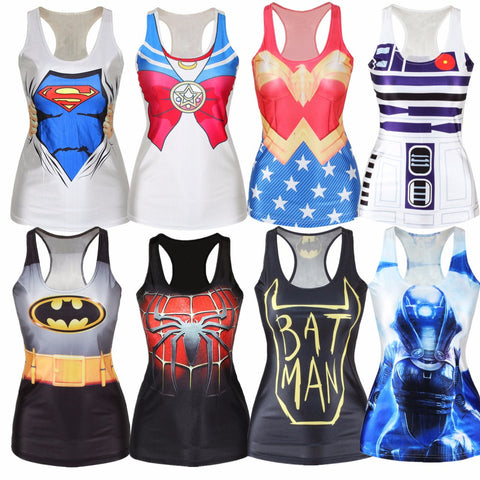 Hot Summer Popular Tank Tops Women 3D Vest Harajuku Print Camisole Sexy Fashion Punk Girl Slim 21 Style - Hespirides Gifts - 1