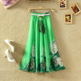 UWBACK New Brand Summer Maxi Skirt Women Long Bohemian Print Floral Chiffon Skirt Saia Femme Boho Beach SKirt Women TB978 - Hespirides Gifts - 6