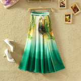 UWBACK New Brand Summer Maxi Skirt Women Long Bohemian Print Floral Chiffon Skirt Saia Femme Boho Beach SKirt Women TB978 - Hespirides Gifts - 2