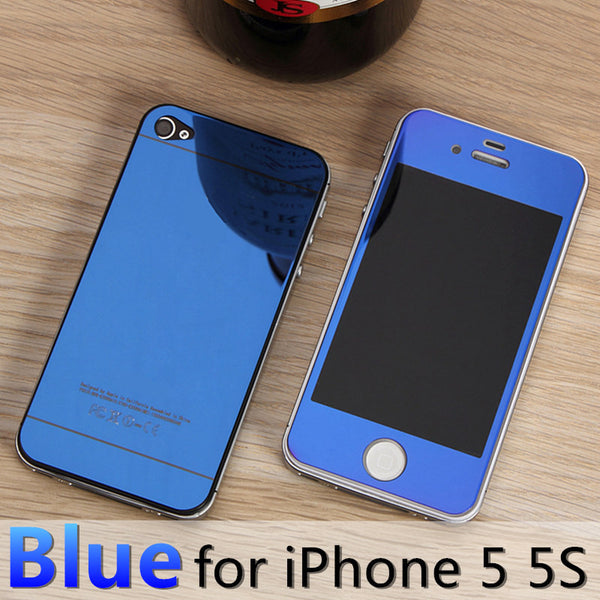 For apple iPhone 4 4s 5 5s 6s 6Plus Plus case 2.5D Screen Protector Metal Plating Mirror Premium Tempered Glass Full Cover Film - Hespirides Gifts - 10